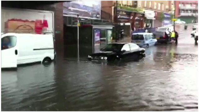 Ruislip hit with flash flooding