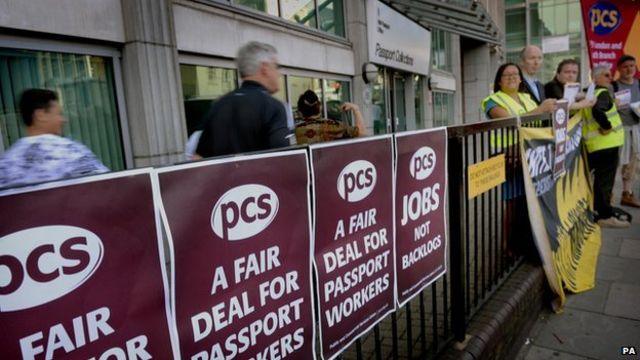 Passport workers go on strike over staffing and pay