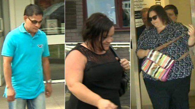 Left to right: Lauro Bertulano, Clare Cahill and Rebecca Jones