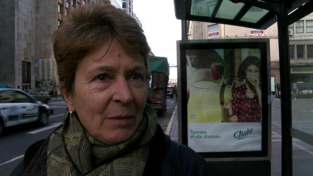 A woman in Buenos Aires who says she is worried