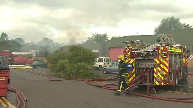 Fire at Trojan Centre, Wellingborough