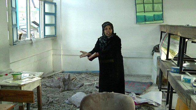 Damage to UN-run Gaza school