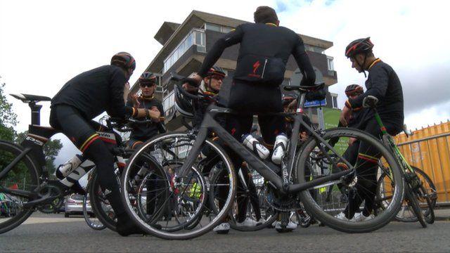 Isle of Man cyclists