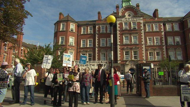 Protest outside Hammersmith hospital
