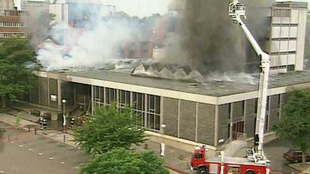 Norwich Central Library fire