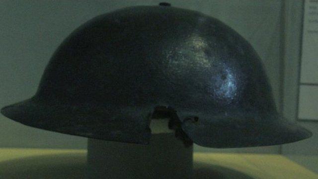 British army helmet from WW1