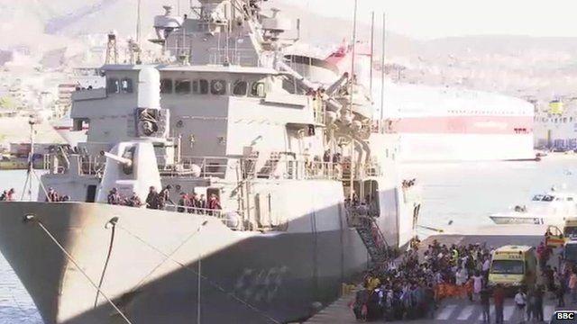 Britons boarding ship in Libya