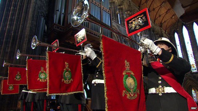 Fanfare at start of Glasgow Cathedral World War One service