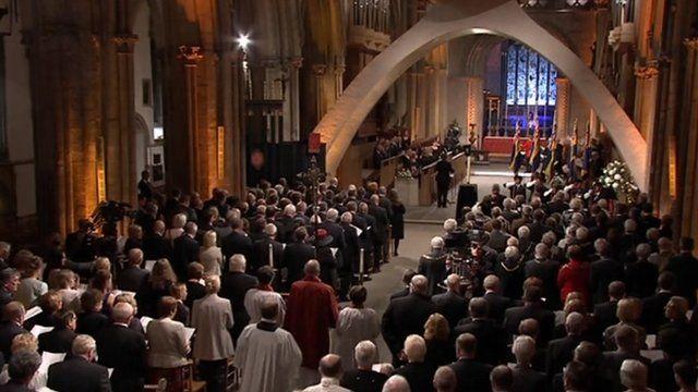 Procession at Llandaff Cathedral