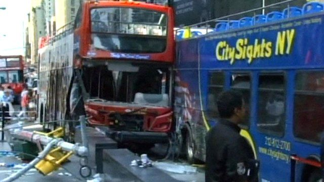 Times Square bus crash