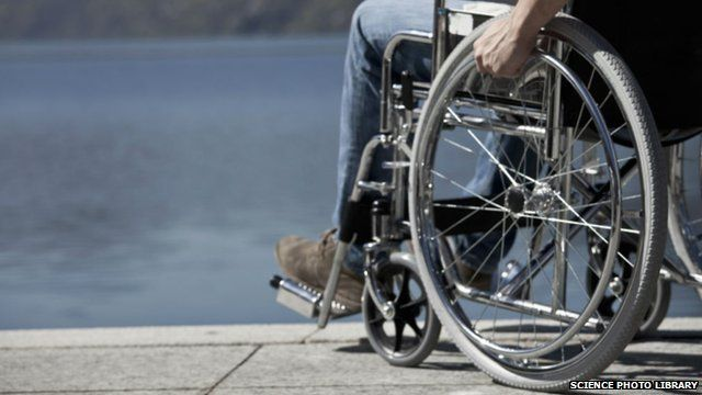 Anonymous man in a wheelchair