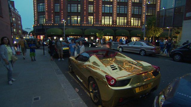 Supercars Of The Super Rich Descend On Central London Bbc News