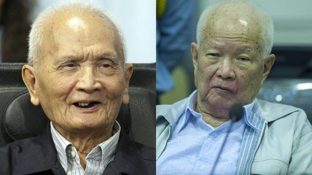 Nuon Chea (left) and Khieu Samphan