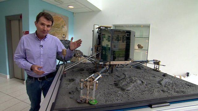 David Shukman and Philae lander