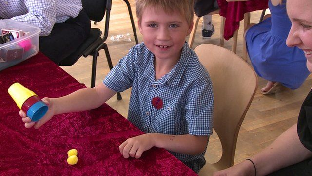 A trainee magician on the summer camp