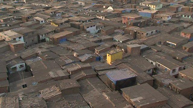 Slum overcrowding in Mumbai
