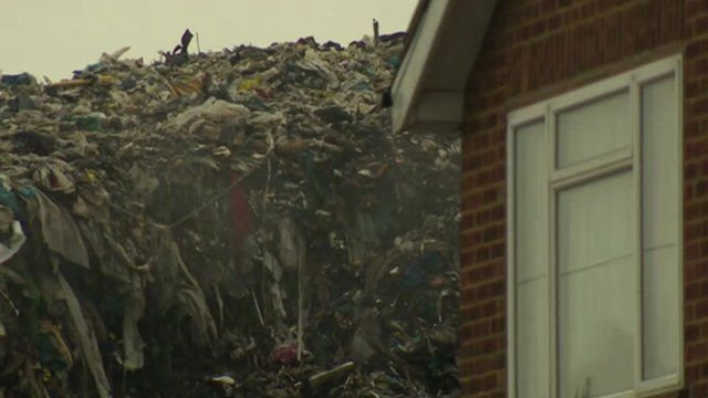 Rubbish dump in Bromley
