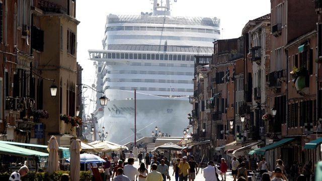 MSC Divina cruise ship in Venice lagoon