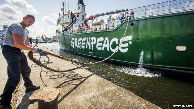 Arctic Sunrise Greenpeace boat welcomed back to Netherlands