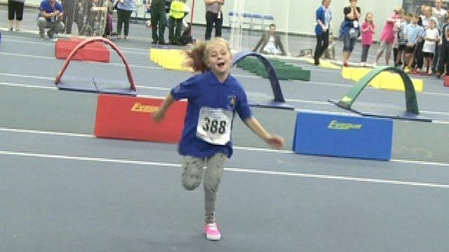 Charlie at the Transplant Games