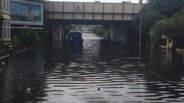 G4S van stuck on flood