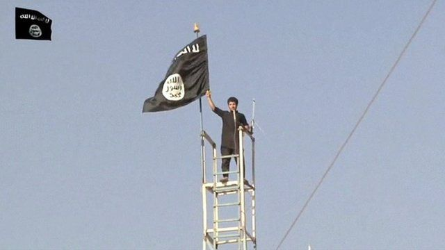 A video shows militants celebrating