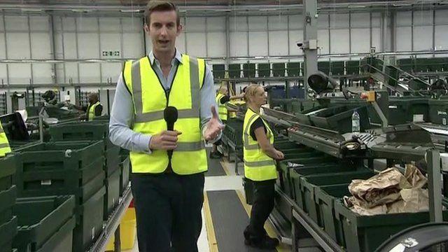 Ben Thompson at John Lewis Online warehouse
