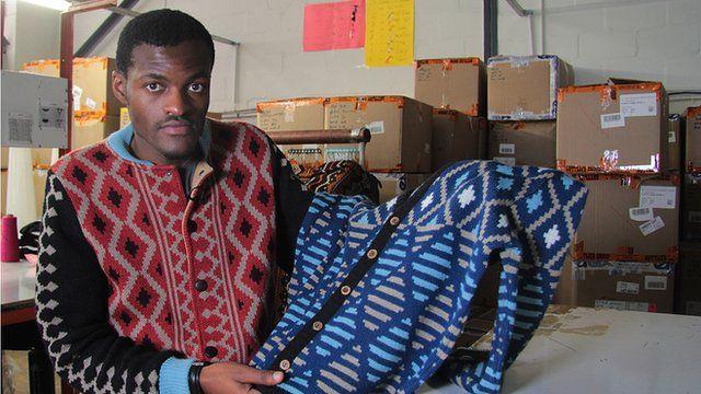 Laduma Ngxokolo with a jumper