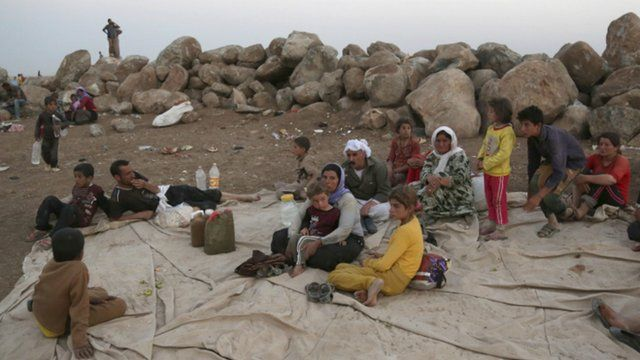 Yazidi refugees in northern Iraq
