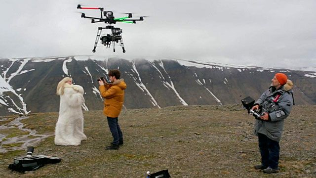 Drones are now being used for spectacular aerial filming for music videos  and movies
