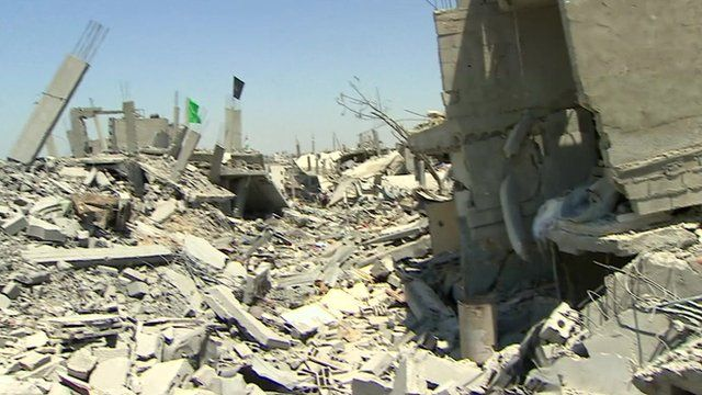 Destroyed buildings in Gaza