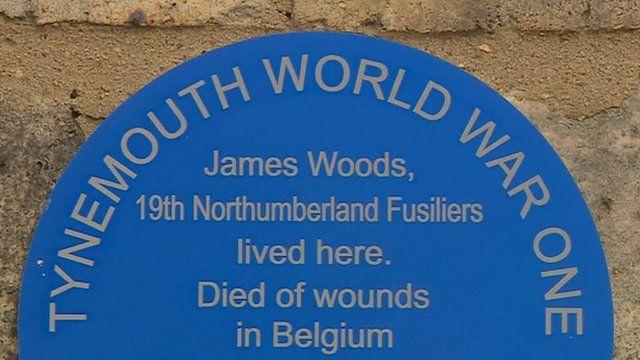 Tynemouth WW1 plaque