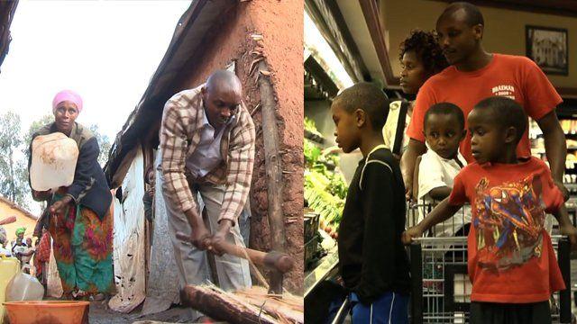 Family in Rwanda and the US