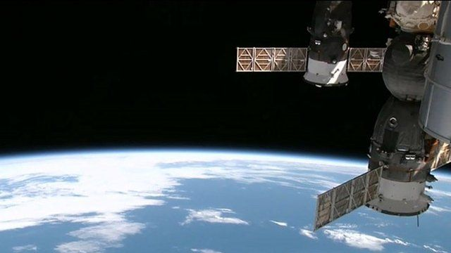image from video taken by High Definition Earth Viewing (HDEV) experiment aboard the ISS