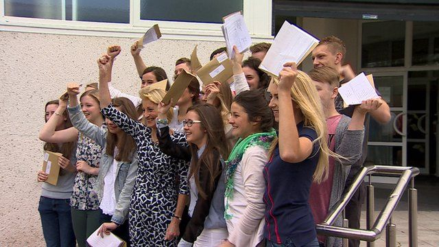 About 32,000 students in Northern Ireland have received their A-level exam results