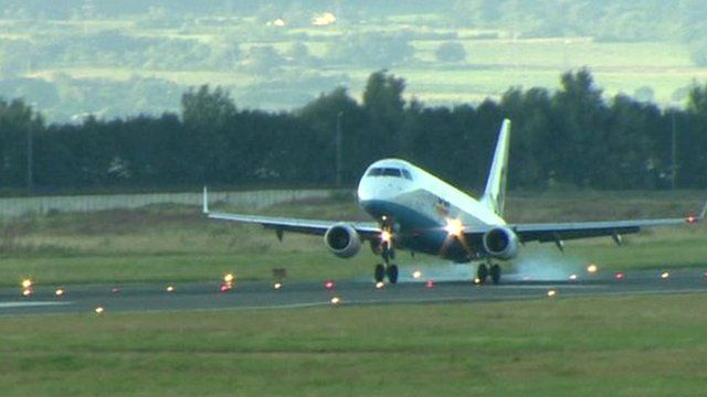 Flybe aircraft landing