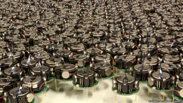 Thousand-strong robot swarm throws shapes, slowly
