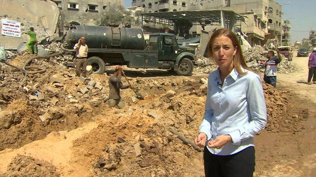 The BBC's Yolande Knell reporting from Gaza