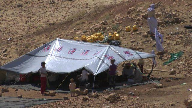 Refugees on Mount Sinjar
