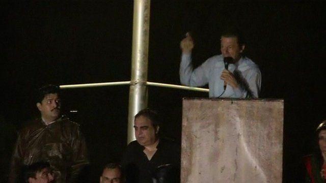 Imran Khan at rally