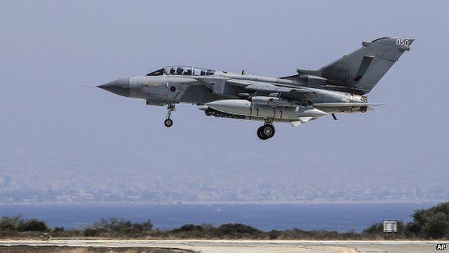 RAF Tornado lands at RAF Akrotiri