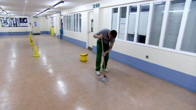 Prisoners earn on average 30p an hour