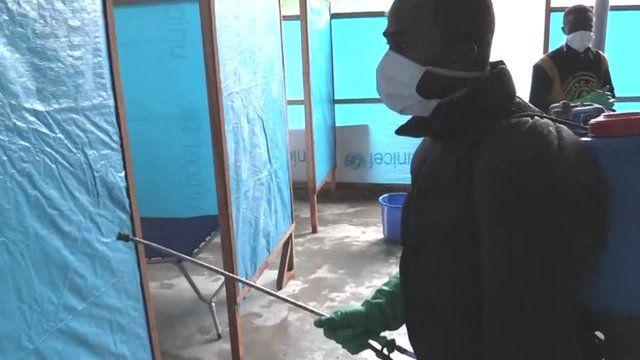 Ebola clinic in Monrovia, Liberia