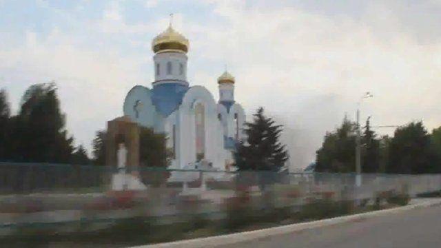 An orthodox church in Luhansk