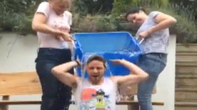 Water is poured over James McAvoy