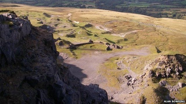 The former Herbert's Quarry in the Black Mountains