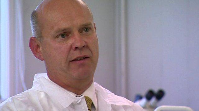 Forensic scientist Peter Barker