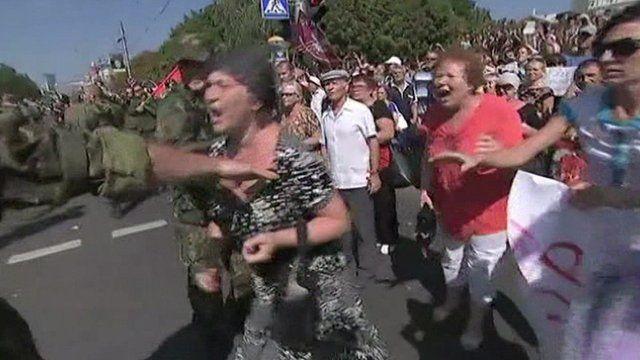 Shouting crowds