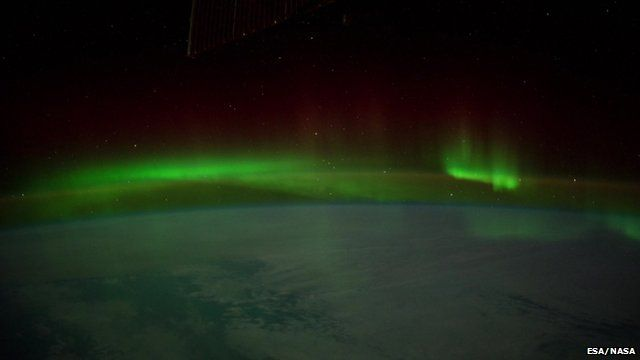 the Aurora Borealis filmed from space