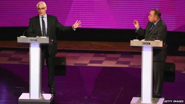 Scottish independence: Salmond and Darling clash in heated TV debate